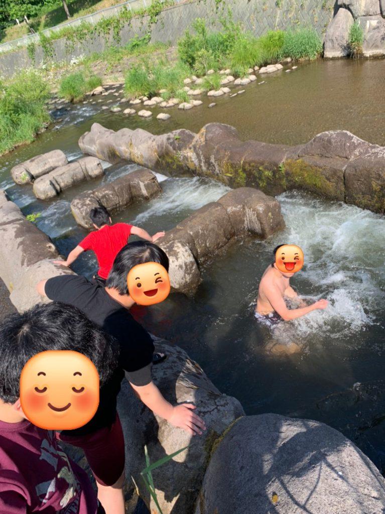 川遊びの季節が来ました‼️